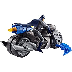 DC Justice League Action Flame Blaster Batman Figure & Batcycle Vehicle