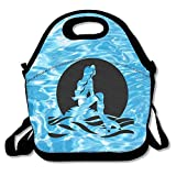 The Little Mermaid Lunch Bag Lunch Tote, Waterproof Outdoor Travel Picnic Lunch Box Bag Tote With Zipper And Adjustable Crossbody Strap