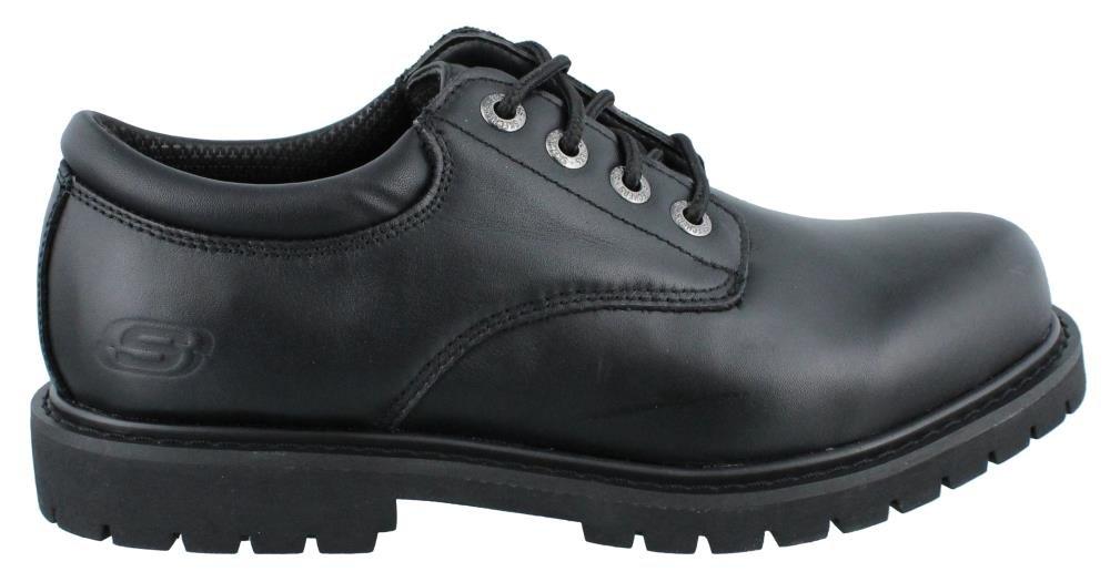 Skechers Men's, Cottonwood Elks Lace up Work Shoe Black 15 M