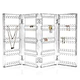 TheJD Foldable Acrylic Earring Screen Stand Holder - upto 144 pairs screen earring holder