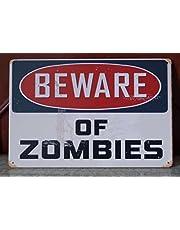Tin Sign 'Beware Of Zomies Walking Dead' retro affisch väggplatta hem present väggdekor 20 x 30 cm