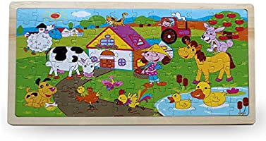 Farm Puzzle Wooden 96 Pc Animals