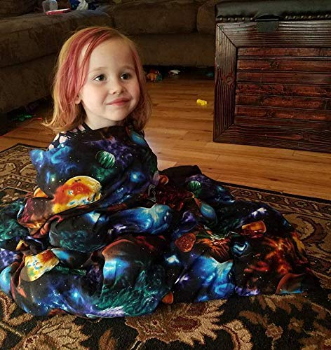 Lifetime Sensory Solutions Small Toddler Weighted Blanket, Weighted Sensory Blanket for Kids (05 lb for 40 lb Child, Whimsical Woods) by Lifetime Sensory Solutions (Image #3)