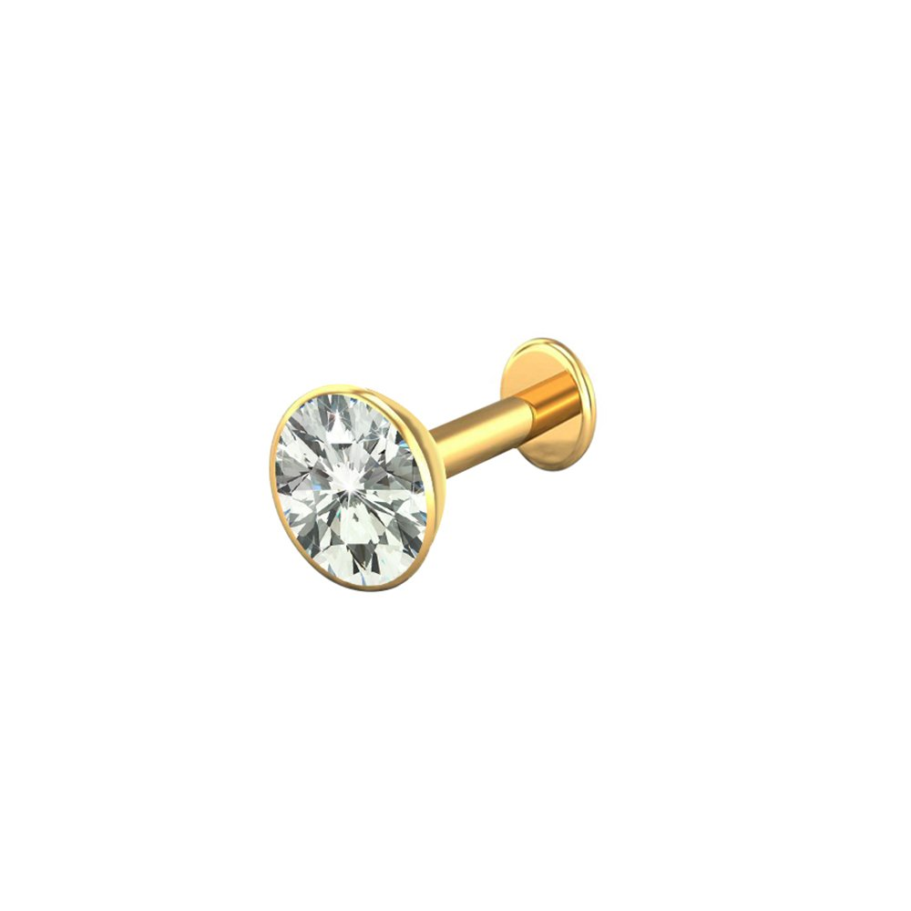 Buy Heartly 14k Pure Gold Nose Pin Stud For Womens Girls