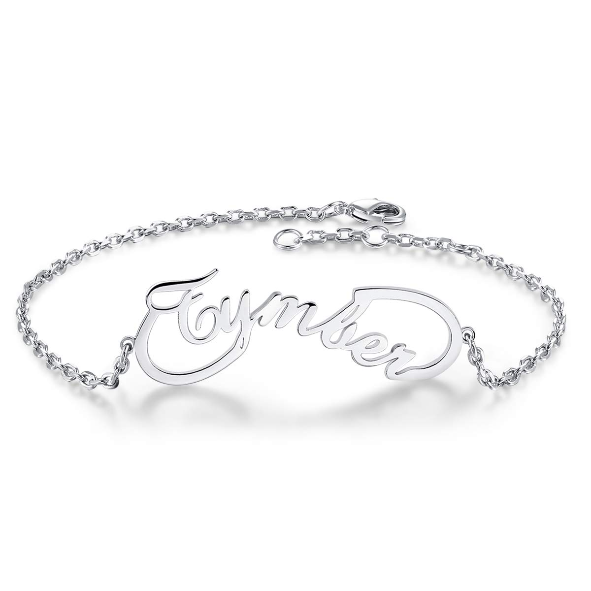 Custom Charm Link Bracelet Made with Any Names EVER2000 Infinity Name Bracelet Personalized