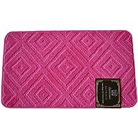 Luxury Home Fashion Bathroom Rug, Beautiful Modern Design Bathroom Rug, Anti-slip Backing (24 X 36 (#017), Pink)