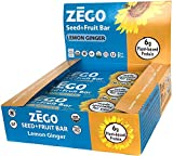ZEGO Foods Seed + Fruit Bars, Spicy Lemon Ginger, Non GMO, Organic, Vegan, Gluten Free, 38g (Pack of 9)