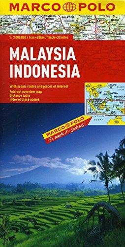 Malaysia, Indonesia Marco Polo Map (Marco Polo Maps)