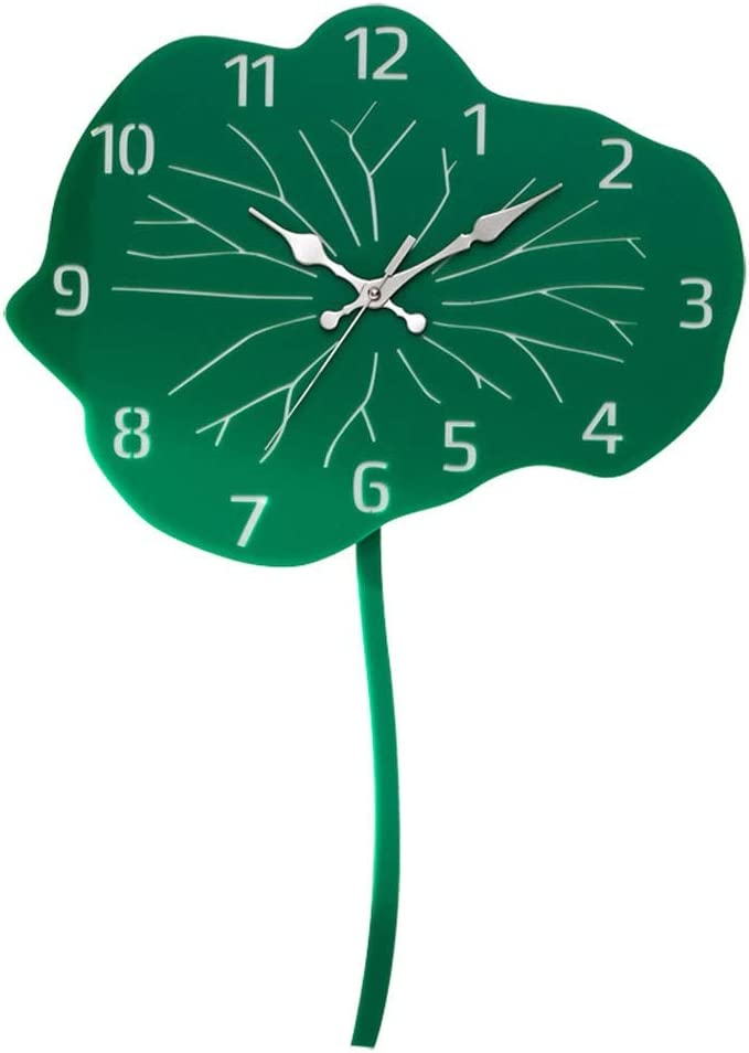 LJXLXY Reloj de Pared Lotus Pendulum Reloj de Pared Hecho a Mano Creativo Reloj de Pared de acrílico Reloj de Pared Diseño Moderno Home Art Clock Reloj de Pared Digital