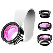 Mpow iPhone Lens,3 in 1 Clip-On 180 ° Fisheye Lens+ 110° Wide Angle Lens + 10X Macro Lens Clip-On Cell Phone iPhone Camera Lens Kit Photo Set for iPhone 7/6/6S/5/5S Plus/Galaxy S7 Edge/Samsung,Android Smartphones