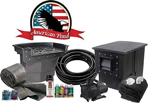 American Kit Pond (American Pond X-Large 16' x 16' Pond Kit Professional Series Energy Saving)