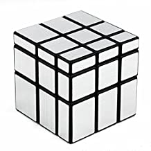 D-FantiX Shengshou Mirror Cube 3x3 Speed Cube Puzzle Silver Black 57mm
