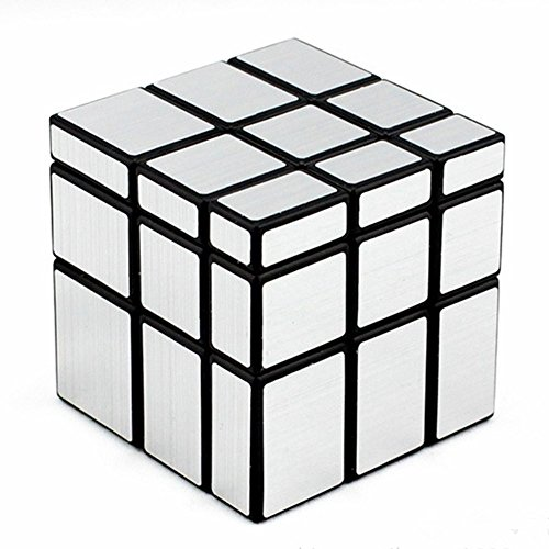 D-FantiX Shengshou Mirror Cube 3x3 Speed Cube Unequal Puzzle Silver Black - Black And Silver Mirror