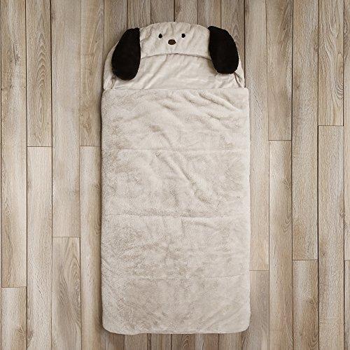 Best Home Fashion Plush Faux Fur Hooded Dog Animal Sleeping Bag - Taupe - 27''W x 59''L - (1 Sleeping Bag) by Best Home Fashion (Image #2)