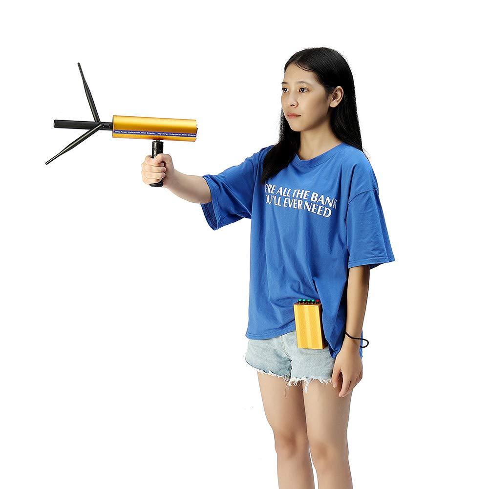 dezirZJjx Metal Detector, 1200m 25m Handheld 3D Metal Gold Detector Long Range Underground Finder Hunter Blue