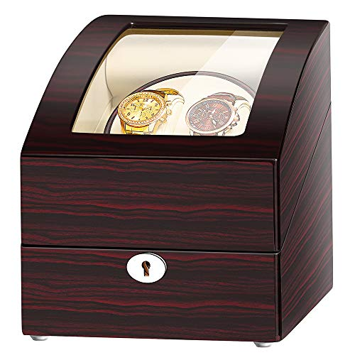 JQUEEN Automatic Double Watch Winder with 3 storages