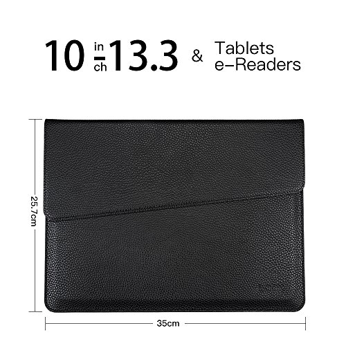 BOOX PU Leather Sleeve for iPad Pro, MacBook Air and Pro, Notebook,13-13.3 Inch
