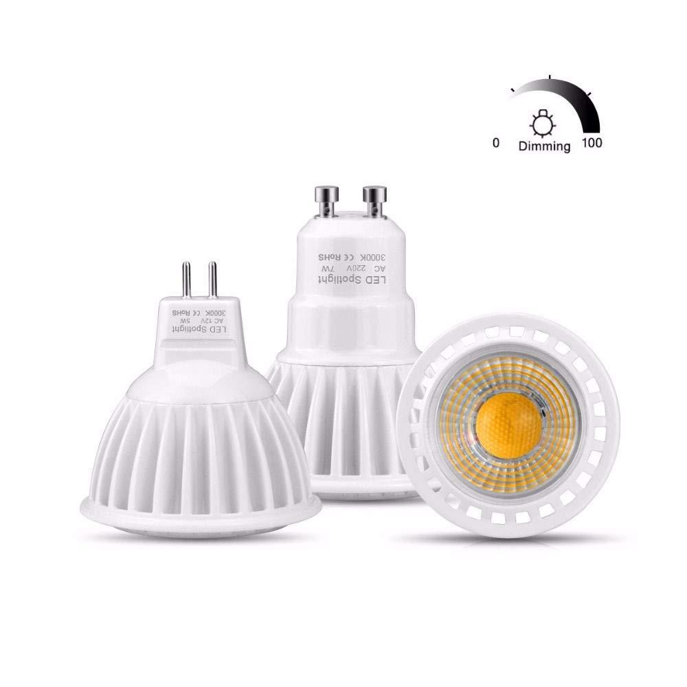 GGSSYY-JNDP 2pcs Led Gu10 lámpara proyector Bombilla Mr16 ...