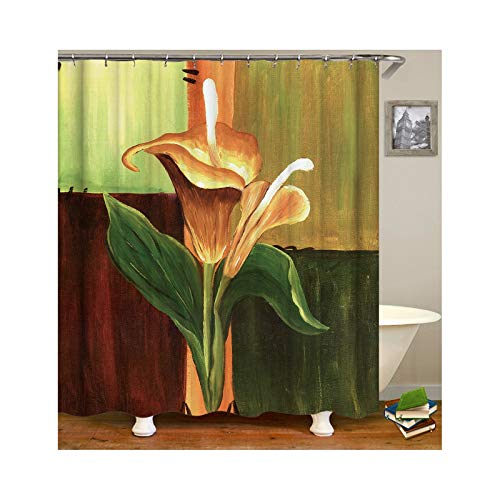 Aokarry Polyester Shower Curtain Colorful Morning Glory 66x72 ''