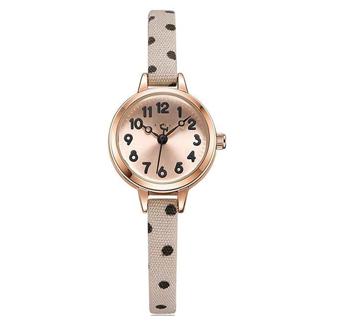 Reloj para mujer exquisito reloj redondo de cuarzo con ...