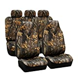 FH Group Universal Fit Full Set Car Seat Cover, (Hunting Camouflage) (Airbag compatible and Split Bench, Fit Most Car, Truck, Suv, or Van, FH-FB111115)