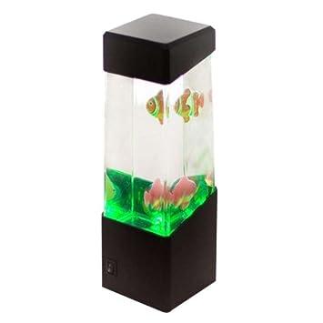Babysbreath17 Colorido LED Medusas/volcán / Cable USB Jalea/Peces de Acuario luz de la Noche Decoración Ambiente de la lámpara no está Incluido lámpara de ...