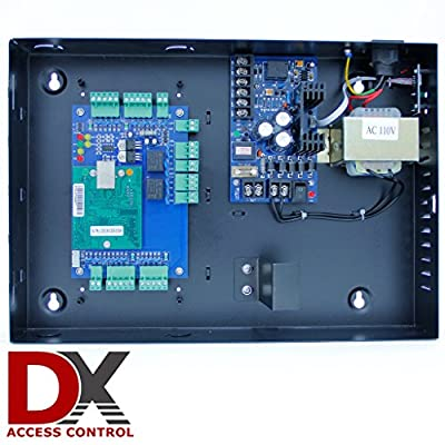 2 Door Access Control Panel Board - Software CD and Power Supply Box is included - can easily connect to a PC or Network with Ethernet Cable via TCP/IP port - Connect and control Access Readers, electronic door locks, exit buttons, alarms and more