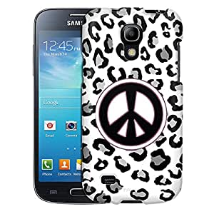 Samsung Galaxy S4 Mini Case, Slim Fit Snap On Cover by Trek Peace on Black Leopard Case