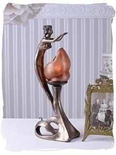 Jugendstil Lampe Tischlampe Frauenfigur Belle Epogue Leuchte Antik PALAZZO  EXCLUSIVE