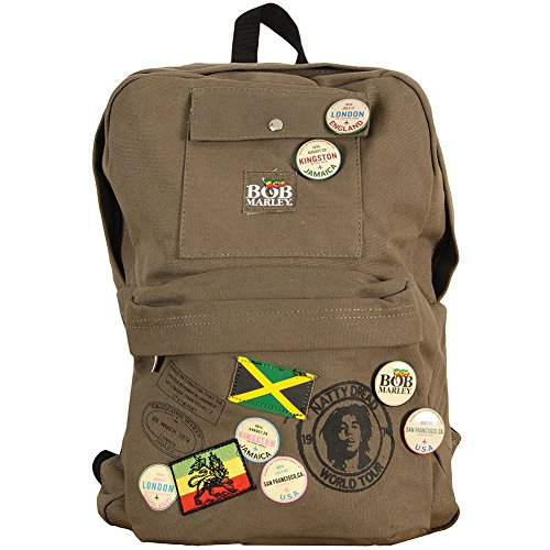 (Bob Marley Zion Backpack Green)