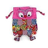 Kids Cartoon Animal Preschool Schoolbag Kindergarten Outdoor Backpack Birthday Gift - Owl (pink)