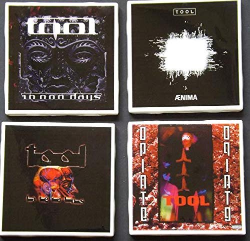 (Set of four TOOL Album Art Ceramic Coasters)