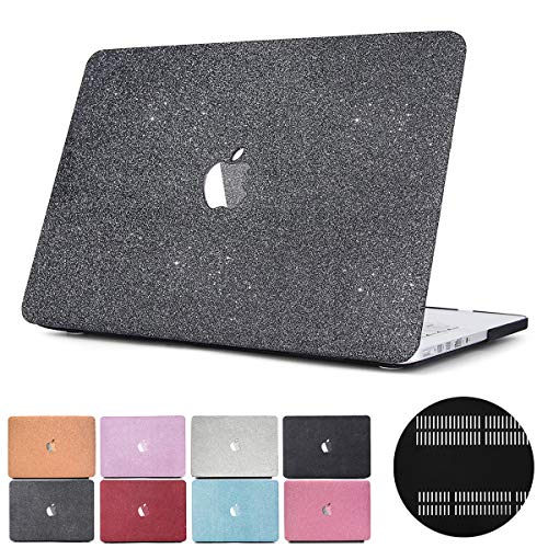 (New MacBook Air 13 Touch ID A1932 PapyHall 2 in 1 Glitter Frosted Texture Series Full Body Protection Plastic Cover for 2018 Release MacBook Air 13 inch Touch ID Model:A1932 MS-Gray)