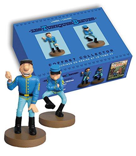 Coffret les tuniques bleues + 2 statuettes en resine