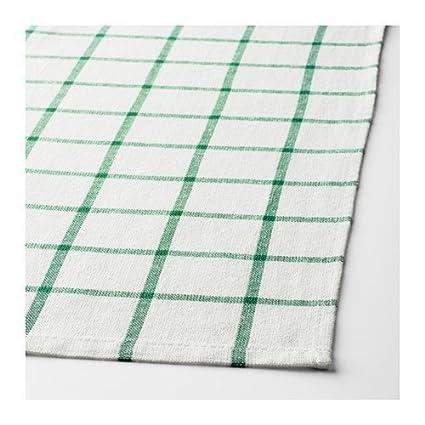 IKEA paños de cocina, para colgar trabillas (8 unidades) verde algodón 20 x