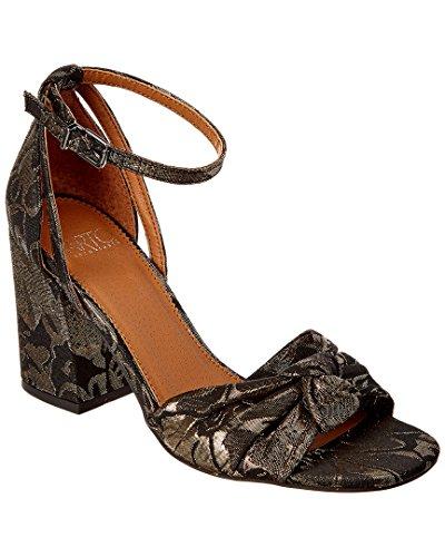 Franco Sarto Womens Edana Ankle Strap Sandal Black Metallic Floral Brocade JtCSUXLo