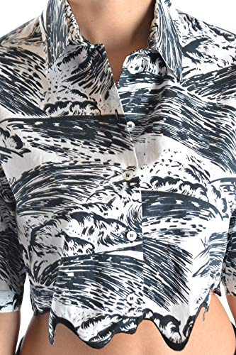 Mcbi15788 Kenzo Mujer Blanco Top Algodon vaRFqgw