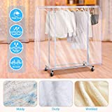 SIWUTIAO Garment Rack Cover,4Ft Transparent PEVA
