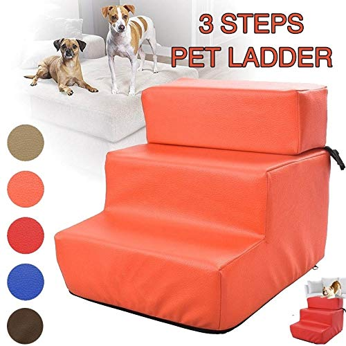 LYY 3 Steps Pet Stairs Small Dog House Ladder for Puppy Cat Anti-Slip Removable Dogs Bed Stairs Ramp Cat Climbing Jumping Ladder (5Colors) by LYY