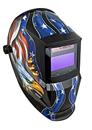 Instapark ADF Series GX600 Solar Powered Auto-darking Welding Helmet with Adjustable Shade Range #5 - #13