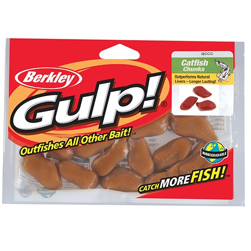 Gccb Gulp Catfish Bait Chunks Blood Sk Berkley 1121121