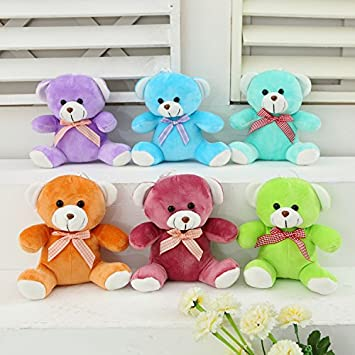 Aliexpress new 18CM cute teddy bear plush toys wholesale lovely bow pp cotton children birthday gift