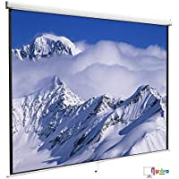 YHG 120 1:1 Projector Projection Screen Matte Manual Pull Down Home HD Movie Theater White