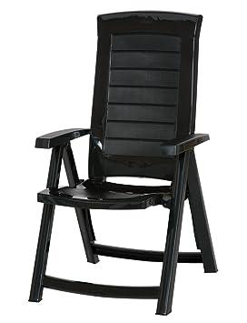 Jardin 212166 Aruba Chaise Pliante En Plastique Avec 4 Positions Reglables Vert