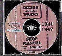 1941 1942 1946 1947 dodge truck & pickup w serieswrepair shop chrysler dodge wiring diagram flip to back flip to front