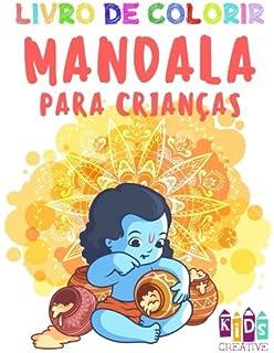 Livro de colorir mandala para crianças pequenas ~ Mandalas fáceis: figuras, pássaros, peixes,…