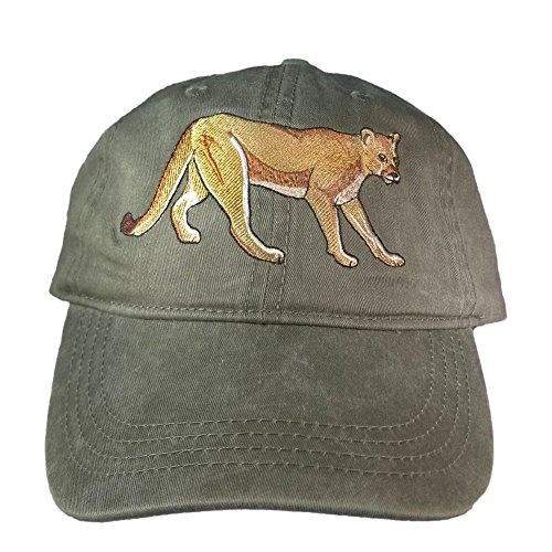 ECO Wear Embroidered Wildlife Mountain Lion Baseball Cap