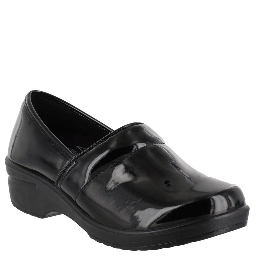 Easy Works Women's Lyndee Health Care Professional Shoe, Black Patent, 8.5 W US