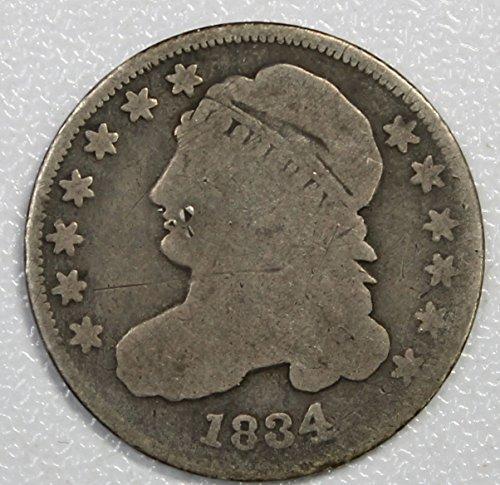 (1834 P Capped Bust Dime 10c Good Details