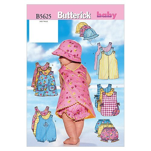 - BUTTERICK PATTERNS B5625 Infants' Romper, Jumper, Panties and Hat, Size NB0 (NB-S-M)